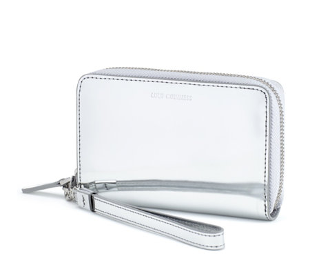 Lulu Guinness Shiny Leather Small Tech Wallet