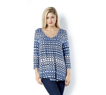 Together All Over Print Pencil Pleat Jersey Tunic - 158758