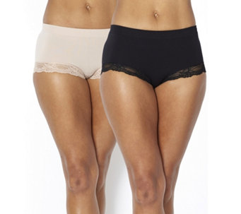 Vercella Vita Medium Control Lace Hem Briefs Pack of 2 - 164558