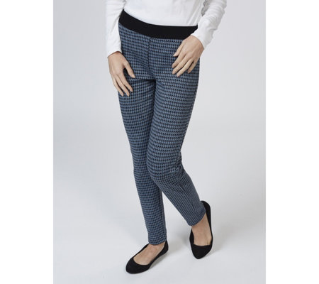 Houndstooth Jacquard Petite Trouser by Nina Leonard