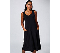 Kim & Co Kim & Co Brazil Knit Sleeveless Gaucho Jumpsuit with Pockets - 173358