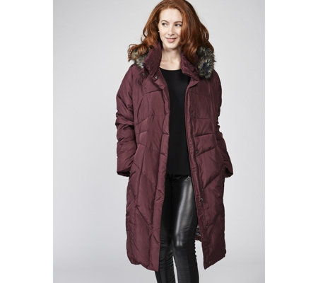 Centigrade Water Resistant Washable Down & Feather Hooded Coat