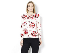 Fashion by Together Rose Garden Print Cardigan - 158159