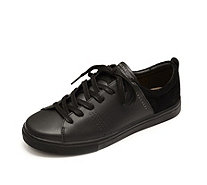 Skechers Street Moda Solid Tonal Leather Lace Up Court Trainer - 165659