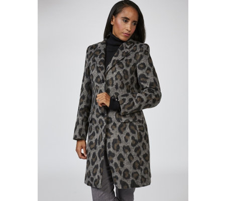 Helene Berman Animal Print Coat