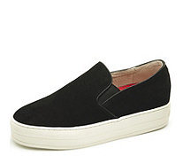 Skechers Uplift High Suedeciety Suede Flatform Twin Gore Slip On Shoe - 166559