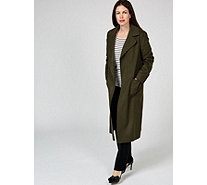 Helene Berman Wool Blend Edge To Edge Coat - 168759