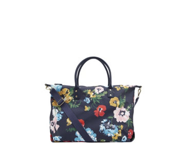 Joules Kembry Printed Canvas Overnight Bag - 168959