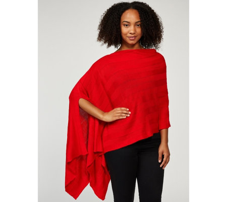 Attitudes by Renee Cosy Knit Poncho
