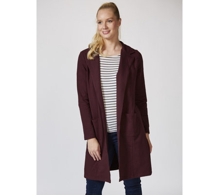 Denim & Co. Long Sleeve Collared Duster with Pockets
