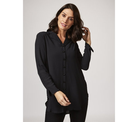 Long Line Georgette Shirt by Michele Hope