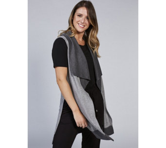 Christopher Fink Vest Duster with Cascade Front & Side Slits - 169060