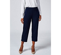 "Kim & Co Brazil Knit 1.5"" Elastic Waistband Cropped Trouser - 173360"