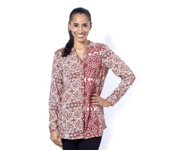 Together Paisley and Floral Print Blouse - 162161