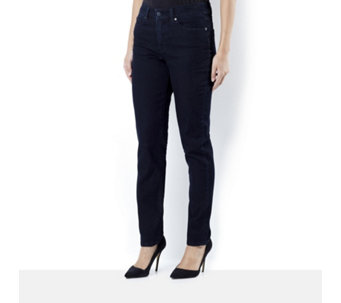 Women with Control My Wonder Denim Fly Front Slim Leg Petite Jeans - 162861