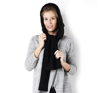 Muk Luks Hooded Scarf with Faux Fur - 126862