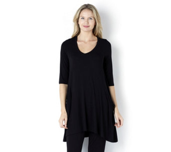 Join Clothes Jersey Tunic with Drape Pocket - 157062