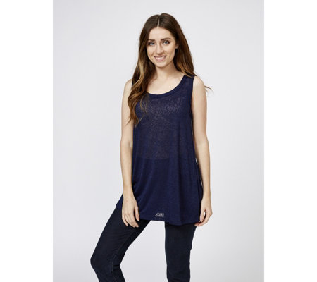 Kim & Co Linen Look Knit Sleeveless Tunic