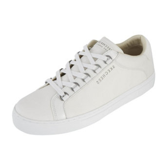 Skechers Street Leather Cupsole D Ring Eyebrow Lace Up Trainers - 165662