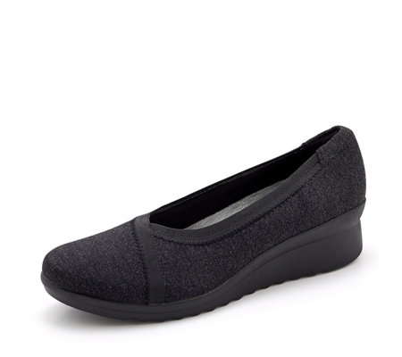Clarks Caddell Dash Wedge Heel Pump