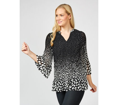 Together Polka Dot Pleated Blouse