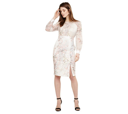 Phase Eight Nissa Floral Long Sleeve Dress