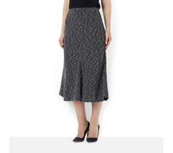 Kim & Co Boucle 4 Panel Fluted Skirt - 155763