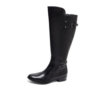 Clarks Liquorice Rock Knee High Boot with Side Buckle - 166663