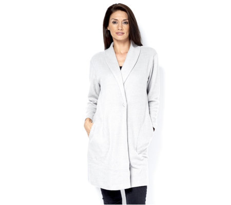 Anybody Loungewear Shawl Collar One Button Cardigan