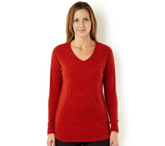 Kim & Co Mirage Knit Long Sleeve V Neck Tunic - 156265
