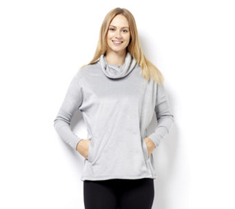 Anybody Loungewear Fleece & Rib Cowl Neck Jumper - 160165