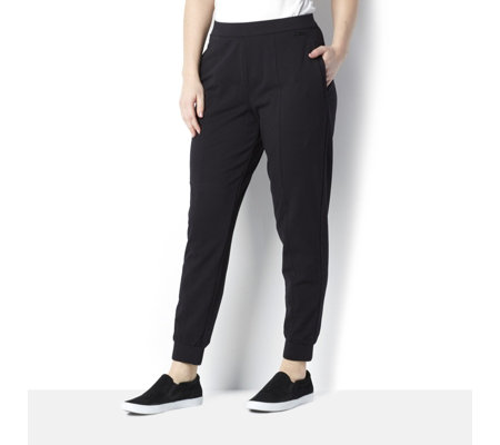 H by Halston Regular Tapered Leg Jogger with Front Seam