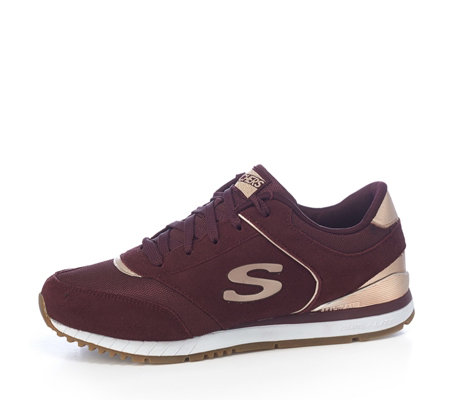Skechers Street Sunlite Revival Suede & Mesh Metallic Trim Trainer