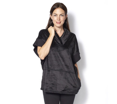 Anybody Loungewear Ribbed Trim Batwing Top