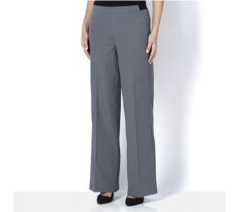 H by Halston Petite Full Length Wide Leg Trousers - 161566