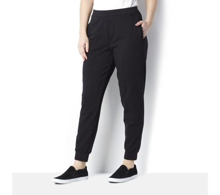 H by Halston Petite Tapered Leg Jogger with Front Seam