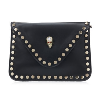 Butler & Wilson Envelope Shape Skull Ornament Clutch Bag - 165666
