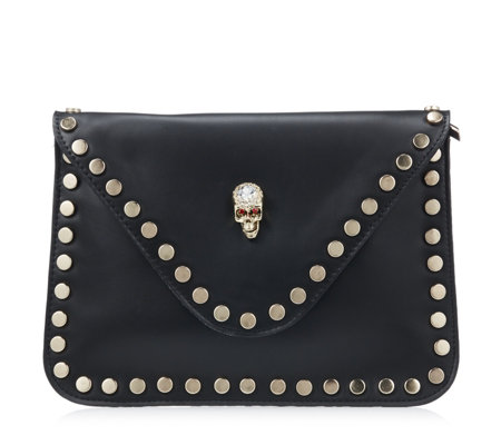 Butler & Wilson Envelope Shape Skull Ornament Clutch Bag