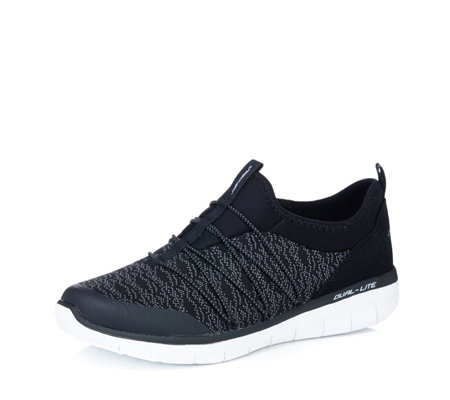 Skechers Synergy 2.0 Simply Chic Knit Mesh Bungee Slip On Shoe