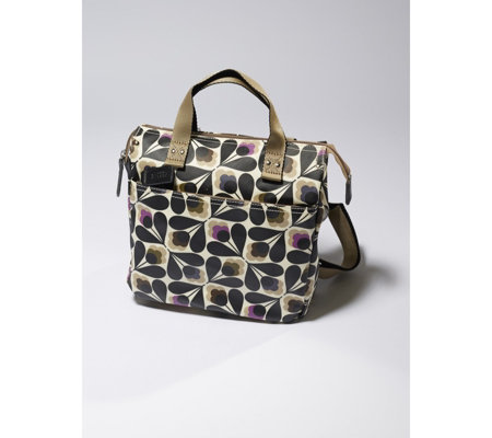 Orla Kiely Matte Laminated Sycamore Seed Small Backpack
