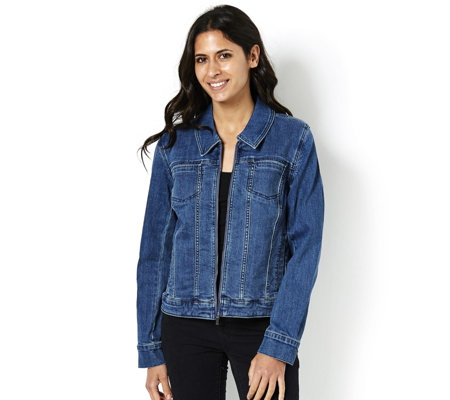 H by Halston Signature Denim Jacket