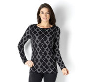 Attitudes by Renee Reversible Jacquard Knit Jumper