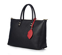 Lulu Guinness Frances Medium Lip Zip Leather Tote Bag with Detachable Strap - 167769