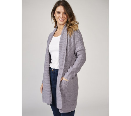 Knitted Basket Stitch Cardigan by Michele Hope