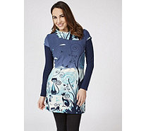 Joe Browns Printed Quirky Cat Long Sleeve Tunic - 171769