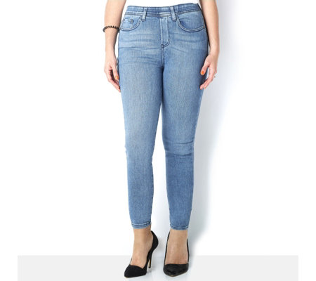 Diane Gilman Superstretch Flat Waisted Skinny Jeans Regular Length