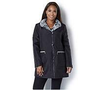 Centigrade Water Resistant Reversible Faux Fur Coat - 160770