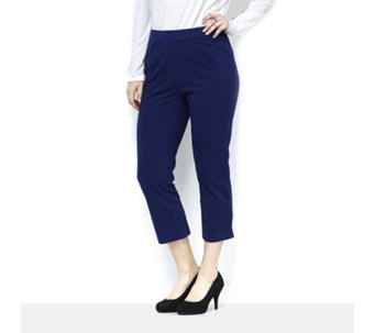 C. Wonder Piping Detail Pull On Cropped Trousers - 164970