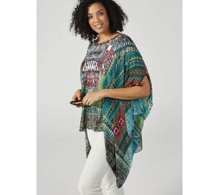 Frank Usher Printed Lightweight Cover Up