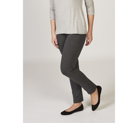 Women with Control Pull On Slim Leg Petite Trousers